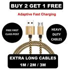 1M 2M 3M Long Micro USB Data Sync Charger Cable Lead For Samsung Android Phones <br/> BUY 2 GET 1 FREE - [ADD 3 TO BASKET & PAY FOR 2]
