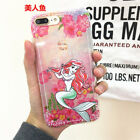 For iPhone X 8Plus 6s 7Plus Alice in Wonderland Ariel Tinkerbell Cute Case Cover