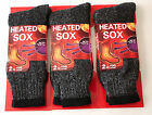 3 Pairs Mens Heated Winter Warm Thermal Boot Heavy Duty Sox Socks Size 10-13