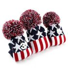 3xGolf Headcover Pom Pom Woods Headcover Set Fit Taylormade Callaway Ping #1#3#5