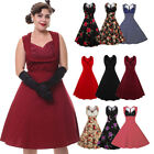 50s attire for women - US SALE Women Plus Vintage 50'S ROCKABILLY Swing Pinup Retro Formal Party Dress
