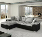 Corner Sofa Bed DIANA with Storage Container Sleep Function Springs New