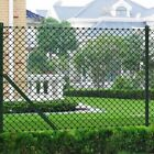 #Patio Chain Link Fence with Posts Hardware Garden Outdoor Border Sizes Opt