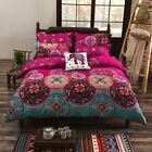 4pcs Modern Bedding Set Paisley Mandala Hippie Duvet Quilt Cover 2x Pillowcases