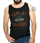 Harley-Davidson Mens Chrome Sprocket Tattered B&S Black Sleeveless Tank Top