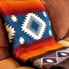 "EXTRA LARGE SOFT & WARM ALPACA WOOL BLANKET PLAID 75""x90"" ANDEAN DESIGN image"