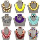 mint jewelry - Fashion Jewelry Girls Coloured Beads Statement Women Earrings and Necklace Set
