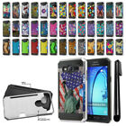 For Samsung Galaxy On5 G550 G500 Card Pocket Brushed Hybrid Case Cover + Pen