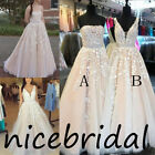 Vintage Lace Evening Dress A-Line Long Tulle Formal Prom Ball Pageant Party Gown