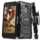 LG Aristo 2 Case, Dual Layer Case with Kickstand & Belt Clip Holster