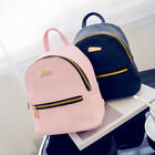 Women Girls Mini Faux Leather Backpack Rucksack School Bag Travel Handbag Solid