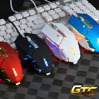 A-jazz GTC Silent Mute USB Wired Illuminated Professional Gaming Mouse