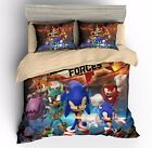 Sega Sonic the Hedgehog Sonic Duvet Cover Soft Bedding Set Anime Quilt Cover Set