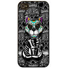 Cat sugar skull day of the dead kitten tattoo graphic cool art phone case cover