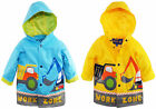 Wippette Boys Rainwear Waterproof Hooded Work Zone Construction Raincoat Jacket