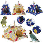Cartoon Parrot Happy Hut Pet Cage Snuggle Tent Hammock Bird Bed Toy Craft Cages
