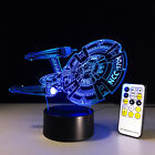 Star Trek 3D Remote Control Night Light Visual Color Change LED Table Desk Lamp