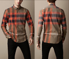"BURBERRY BRIT ""Fred"" Exploded Check Flannel Shirts Military Khaki NEW NWT"