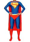 Superman Deluxe Costume Tights Jumpsuit with Cape and Belt for Adult Men