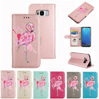 New Flamingo Pattern PU Leather Wallet Flip Folio Case Cover for Samsung S8 Plus