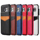 Faux Leather Wallet Case & Back Flip Stand Feature Cover for Samsung S6 S7 Edge