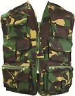Kids Unlined Vest British DPM - Camo Action Paintball Army Uniform Fancy Dress