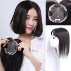 "Fine 4''x5.2"" Mono Base Womnes Human Hair Topper Toupee Hairpiece"