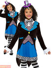 Girls Miss Mad Hatter Costume Kids Alice Fairytale Fancy Dress World Book Day