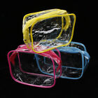 Clear Transparent PVC Travel Cosmetic Makeup Toiletry Wash Bag Pouch Zipper Bag