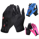 Waterproof PU Leather ski Gloves Full Finger Mens Motorcycle Driving Winter Warm