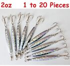 Внешний вид - 1-20 pcs Diamond Jig 2oz Holographic Saltwater Lures w/ Treble Hook Select qty