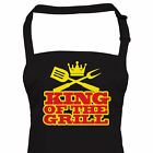 Funny BBQ Apron King of the Grill, Gift for Him Dad Christmas