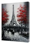 EIFFEL TOWER OIL PAINTING PHOTO  PRINT ON WOOD  FRAMED CANVAS WALL ART  VERTICAL