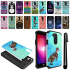 "For LG X Power 2 LV7 5.5"" M320 M322 M327 Hybrid Bumper Hard TPU Case Cover + Pen"