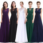 Ever-Pretty Long Formal Party Dress Lace Sleeveless Evening Wedding Gown 08715