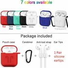 New Silicone Airpods Protective Cover Case Slim Skin For Apple AirPod Earphones
