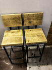 Brooir Handmade Reclaimed Wooden 20mm/20mm box section steel legs with back rest