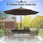 Outdoor Table Aluminum Patio 9Ft Umbrella with Auto Tilt Crank OLIFEN Cover