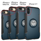 For iPhone X 6 6S 7 8 Plus Magnetic Shockproof Case Cover with Car Mount Holder