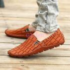 Mens Loafers Slip on Leather Moccasins Gommino Boat Driving Shoes 2018 Summer