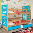 Bunk Bed OLI 3B with Mattresses Storage Container Pine Wood MDF Board New