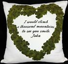 Personalised Cushion Printed Photo Gift Custom Made Print Love Heart Message