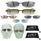 2 Pairs Tinted Sun Readers Rimless Square Frame Unisex Reading Sunglasses Combo