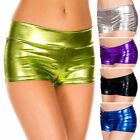 Shiny Metallic Booty Shorts Wetlook Roller Derby Dancer Outfit Medium/Plus Size