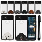 "For Google Pixel 2 XL 6"" 2017 Dog Skin Black TPU SILICONE Phone Case Cover + Pen"