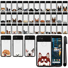 "For Google Pixel 2 XL 6"" 2017 Dog Design Black TPU SILICONE Case Cover + Pen"