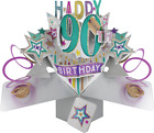 NEW 90th BIRTHDAY POP UP CARD 3D 18th 21st 30th 40th 50th 60th 80th  MUM DAD SON