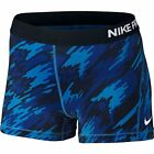 "Nike Women's 3"" Pro Cool Overdrive Training Shorts-Camo Blue"