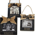 Mud Pie Dog Wooden Picture Frames with Burlap Bows - 3 Desig