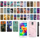 For Samsung Galaxy S5 G900 TPU SILICONE Soft Protective Phone Case Cover + Pen